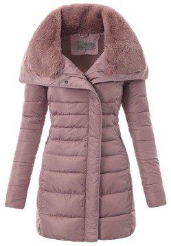Różowa Kurtka Ortalionowa na Zimę - B1068