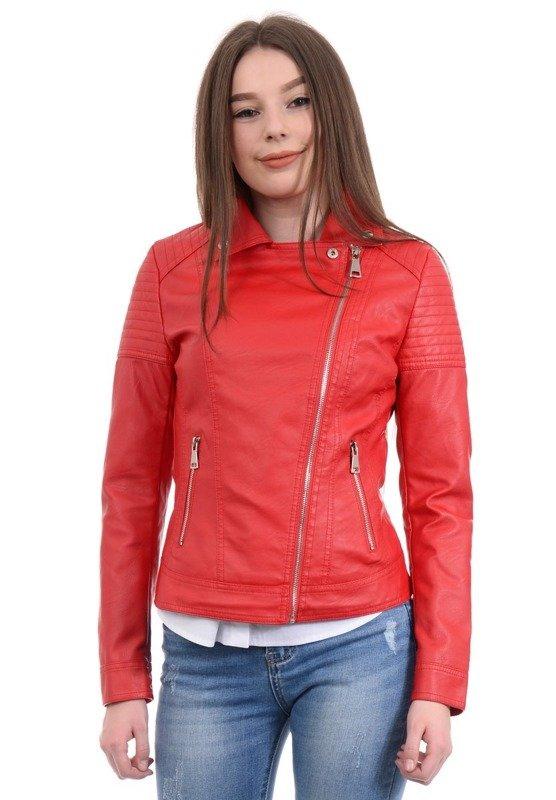 Kurtka Ramoneska Damska Czerwona LZ20001