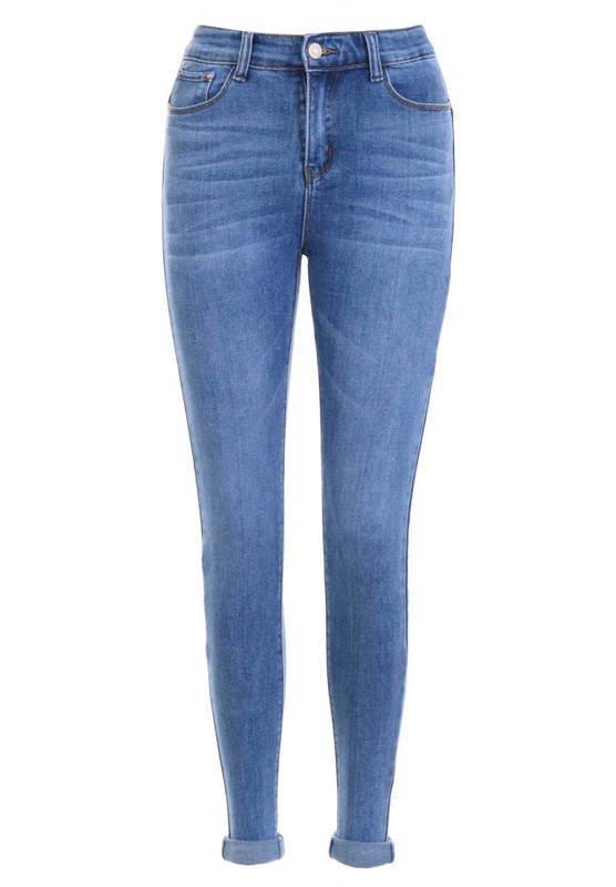 Spodnie Damskie Jeansowe Ciemno Niebieskie DH873